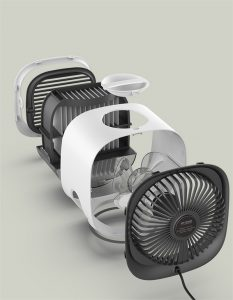 Mini Air Conditioner Cooling Portable Air Cooler Fan Humidifier Purifier For H (7)
