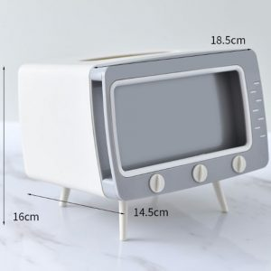 2in1 TV tissue box container tissue napkin holder phone stand_ mobile phone viewing racks (5)