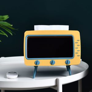 2in1 TV tissue box container tissue napkin holder phone stand_ mobile phone viewing racks (8)