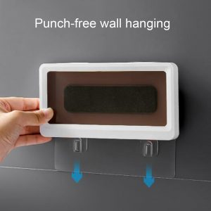 Home Wall Waterproof Mobile Phone Box Pouch Wall Mounted Holder Touch Scr (12)