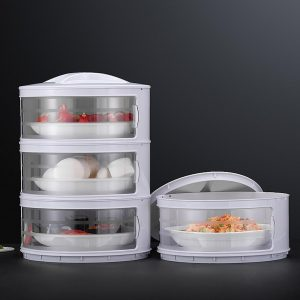 Kitchen Stackable Insulation Dust Proof Food Leftover Container with Lid Cover10
