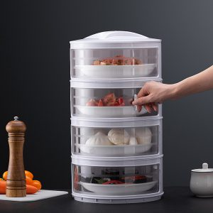 Kitchen Stackable Insulation Dust Proof Food Leftover Container with Lid Cover3