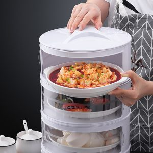 Kitchen Stackable Insulation Dust Proof Food Leftover Container with Lid Cover4